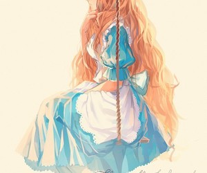 alice, anime, and alice in wonderland image