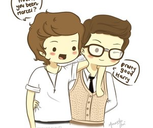 marcel, Harry Styles, and one direction image