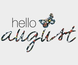 August and hello image