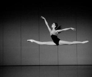 black and white and dancer image