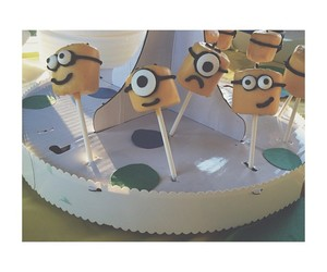 cakepop, despicable me, and delicious image