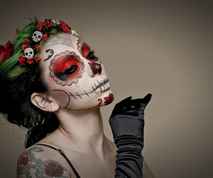 catrina, day of the dead, and makeup image