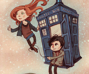 doctor who, tardis, and amy pond image
