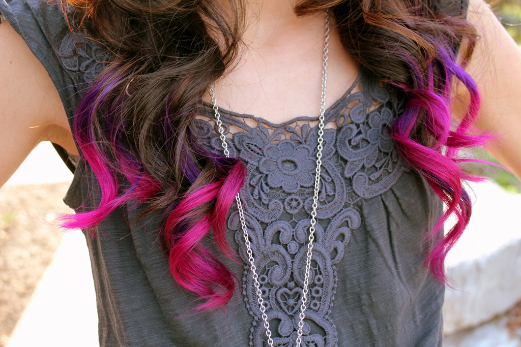 Dip Dyed Hair 3 Via Tumblr On We Heart It