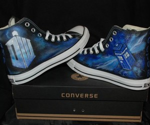 converse, tardis, and special edition image
