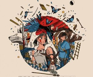 studio ghibli, anime, and princess mononoke image