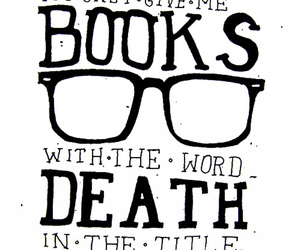 books, death, and typohtaphy image