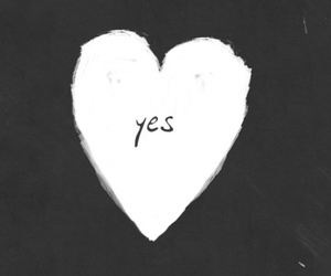 heart, yes, and love image