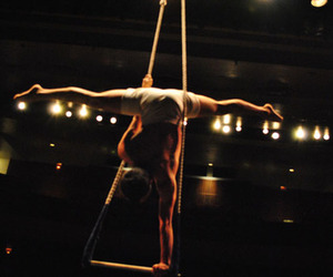 circus, night, and trapeze image