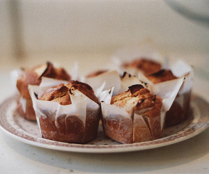food, vintage, and muffins image