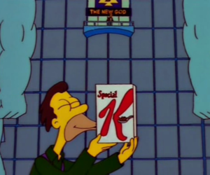 cartoon, Special K, and the simpsons image