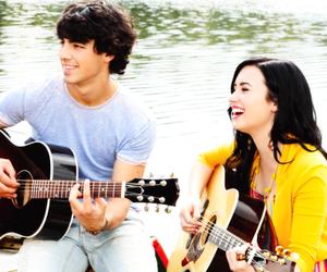 demi lovato, Joe Jonas, and smile image