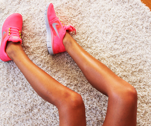 nike, legs, and pink image