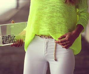 fashion, neon, and white image