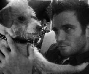 bear, black and white, and colin donnell image