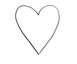 blank and heart image