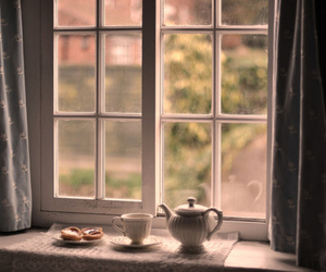 tea, window, and cup image