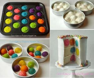 cake, colors, and diy image
