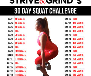 Squat Challenge Results | Sparkle on We Heart It
