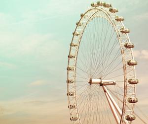 sky, london, and london eye image