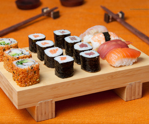 foods, japan, and sushi image