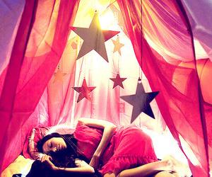 stars, girl, and pink image