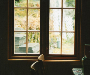 window, chair, and vintage image