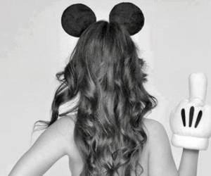 disney, mickey mouse, and stupid girl image