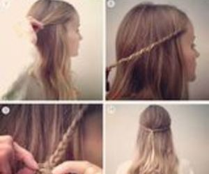 diy, flowerbraid, and hair image