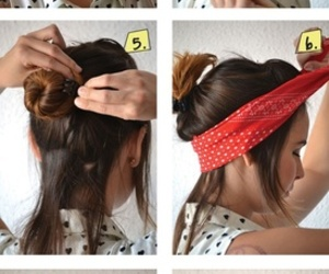 bandana, diy, and hair image