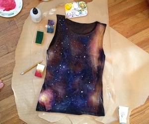 diy, galaxy, and paint image