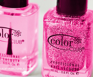 pink, nail polish, and glitter image