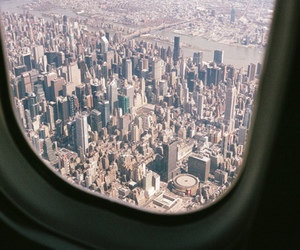 city, new york, and plane image