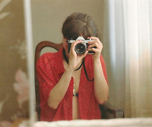 camera, hipster, and mirror image