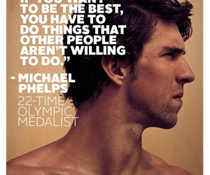 Michael Phelps and swimming image