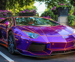 car, Lamborghini, and purple image