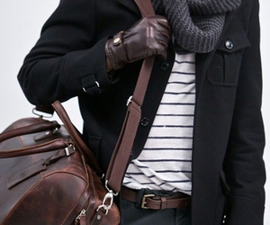fashion, bag, and guy image
