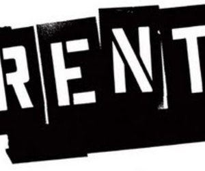 black and white and rent image