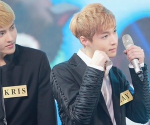 kris, lay, and aegyo image