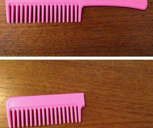 pink, knife, and comb image