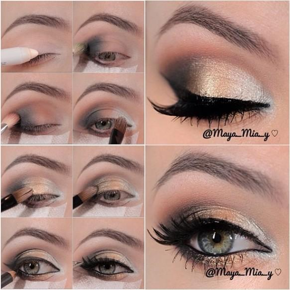 Httpweddbookmedia1927376weddings Gold Smokey Eyes