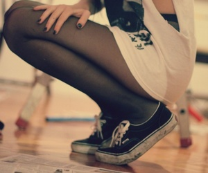 girl, vans, and style image