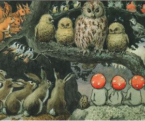 Elsa Beskow, forest, and illustration image