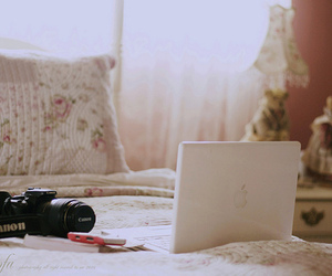 bedroom, canon, and floral image