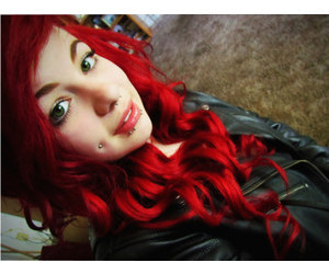 Piercings, girl, and red hair image