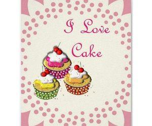 cupcakes, wallart, and i-love-cake image