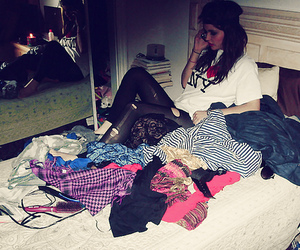 fashion, girl, and room image