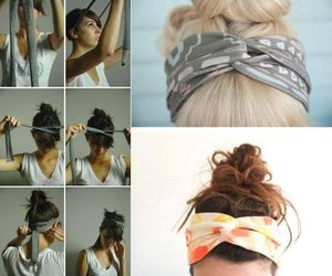 bandana, diy, and hairstyle image