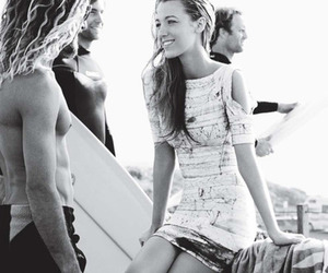 blake lively, surf, and beach image