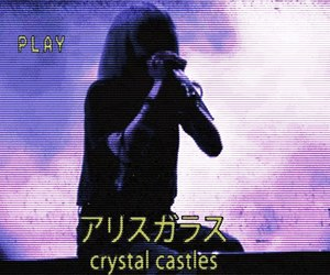 Crystal Castles, Alice Glass, and grunge image